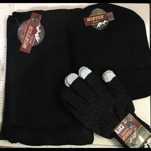 Winter Wear set -beanie, gloves, and scarf